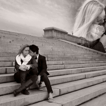 Love on the steps of the Potomac